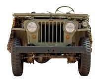 La vecchia jeep militare da 1966 ha isolato su bianco Immagine Stock Libera da Diritti