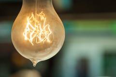 La vecchia lampadina sul soffitto Immagine Stock Libera da Diritti
