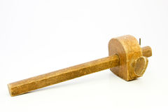 La vecchia lavorazione del legno lavora il calibro di marcatura Fotografie Stock Libere da Diritti