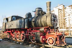 La vecchia locomotiva da Petrosani Fotografie Stock Libere da Diritti