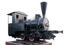 La vecchia locomotiva di vapore ha isolato Fotografie Stock Libere da Diritti