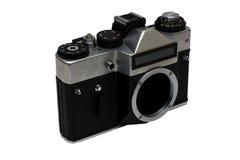 La vecchia macchina fotografica sovietica della pellicola Immagini Stock Libere da Diritti