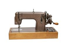 La vecchia macchina per cucire fotografia stock