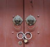 La vecchia maniglia di porta Immagine Stock Libera da Diritti