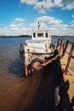 La vecchia nave Immagini Stock Libere da Diritti