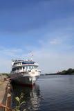 La vecchia nave da crociera Immagini Stock