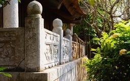 La vecchia pagoda di pietra nel Vietnam Fotografie Stock