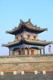 Vecchia parete della città in Xian 6 Fotografia Stock Libera da Diritti