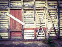 La vecchia parete di legno piastrella il fondo Fotografia Stock