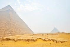 La vecchia piramina di Khafre a Giza, Egitto immagine stock libera da diritti