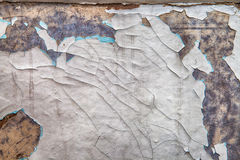 La vecchia pittura misera è graffiata Fotografia Stock Libera da Diritti