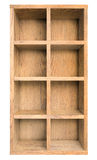 La vecchia scatola di legno o scaffale vuota ha isolato l'illustrazione 3d Fotografia Stock Libera da Diritti
