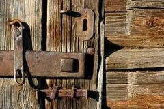 La vecchia serratura Immagini Stock