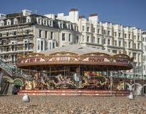 La vecchia spiaggia di Brighton, rotonda immagini stock libere da diritti