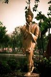 La vecchia statua bronzea di Buddha Immagine Stock