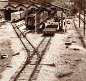 La vecchia stazione ferroviaria immagini stock libere da diritti