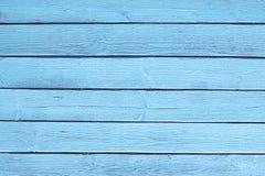 La vecchia struttura di legno blu con i modelli naturali fotografia stock
