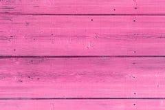 La vecchia struttura di legno rosa con i modelli naturali Fotografie Stock Libere da Diritti