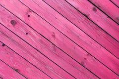 La vecchia struttura di legno rosa con i modelli naturali Fotografia Stock Libera da Diritti