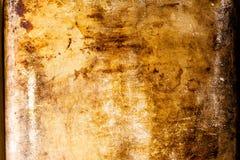 La vecchia, superficie di metallo arrugginita e graffiata, perfeziona per un fondo immagini stock libere da diritti