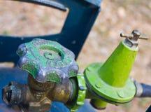 La vecchia valvola a gas Fotografie Stock