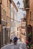 La vecchia via del quarto del popolo ebreo alloggia la parte anteriore costruita Fotografia Stock