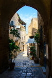La vecchia via di Giaffa, Tel Aviv Fotografia Stock