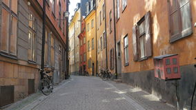 la vecchia vista della città di Stoccolma, sweeden archivi video