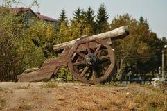 La vecindad del castillo en la ciudad de Dubno, región de Rivne , Ucrania imagen de archivo libre de regalías