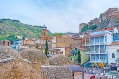La vecindad del ` de los baños en Tbilisi Foto de archivo libre de regalías