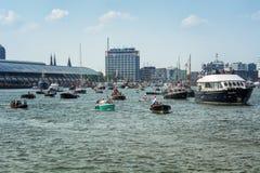 La VELA Amsterdam è una flottiglia immensa delle navi alte Fotografia Stock Libera da Diritti