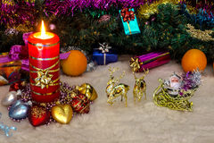 La vela ardiente Imágenes de archivo libres de regalías