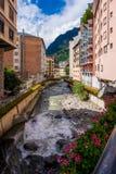 La Vella de Andorra céntrico Foto de archivo