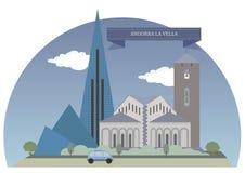 La Vella dell'Andorra Immagini Stock
