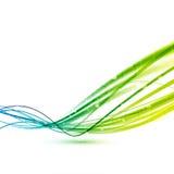 La velocidad abstracta verde clara alinea el fondo Foto de archivo