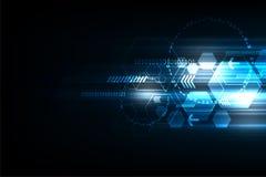 La velocidad de la tecnología bajo la forma de geometría Imagen de archivo