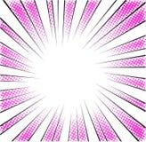 La velocidad radial rosada alinea el tono medio para el héroe del manga ilustración del vector
