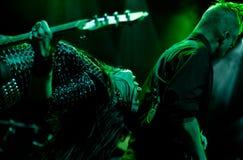 La venda inglesa del rock duro muere tan líquido Fotografía de archivo