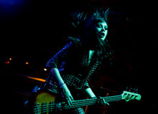 La venda inglesa del rock duro muere tan líquido Imagen de archivo