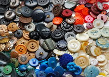 La vendimia arropa los botones Imagen de archivo