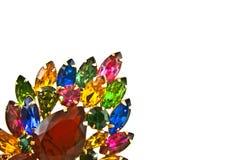 La vendimia Jewels la broche Fotos de archivo