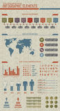 La vendimia labró elementos infographic Fotos de archivo