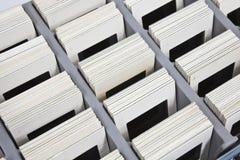 La vendimia resbala en rectángulo de almacenaje Fotos de archivo