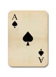 La vendimia vieja aislada aces la tarjeta Imagen de archivo