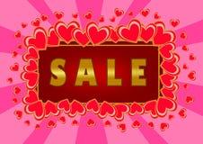 La vendita del biglietto di S. Valentino Fotografia Stock Libera da Diritti
