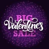 La vendita del grande biglietto di S. Valentino Fotografie Stock