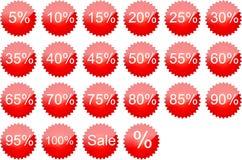 La vendita del testo Immagine Stock