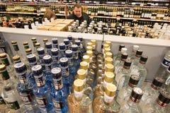 La vendita di alcool Fotografia Stock