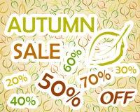 La vendita di autunno lascia la priorità bassa Fotografia Stock