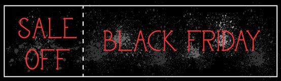 La vendita di Black Friday fuori dalla pittura orizzontale di lerciume del fondo del manifesto schizza la progettazione dell'inse Fotografie Stock